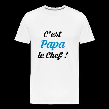 Tee shirt papa f te des p res pere cuisine chef for T shirt de cuisine