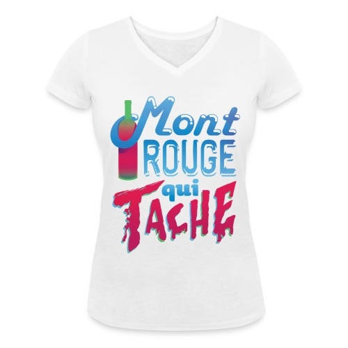 Montrouge qui tache - T-shirt bio col V Stanley & Stella Femme