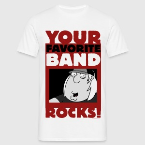 Family Guy Chris Griffin Your Favorite Band Rocks! - Men's T-Shirt
