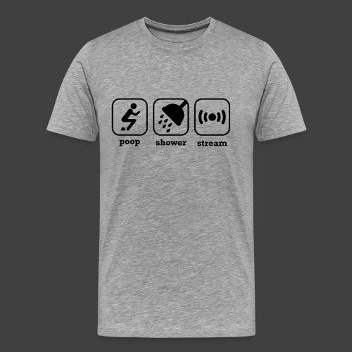 Clamtaco PoopShowerStream - Men's Premium T-Shirt