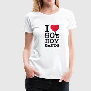 I Love 90\'s Boy Bands T-shirts - Vrouwen Premium T-shirt