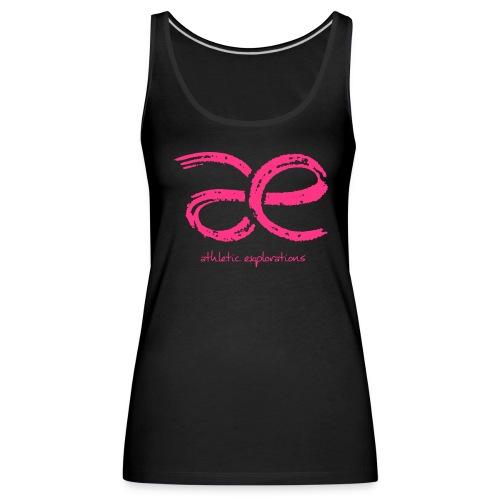 W neonpink | neonrosa æ logo - Women's Premium Tank Top