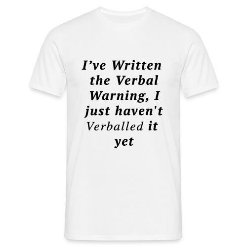 Men's Verballed Warning T-shirt  - Men's T-Shirt