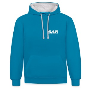 Two Colour Hoodie  - Contrast Colour Hoodie