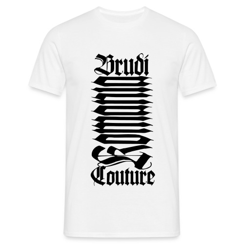 Brudi Couture White - Männer T-Shirt