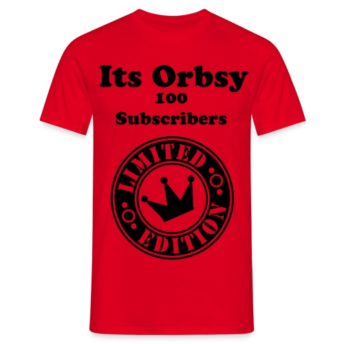 Its Orbsy 100 Subscribers - Men's T-Shirt