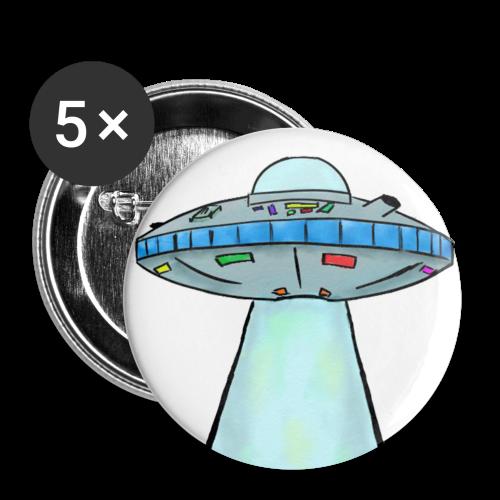 JoeRowe: U.F.O Pin Badge - Buttons small 25 mm