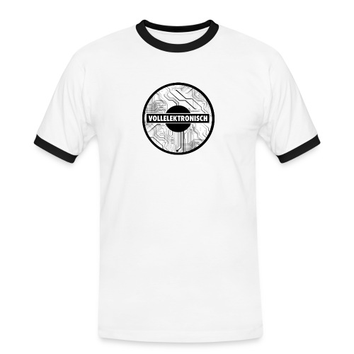 Black and white - Männer Kontrast-T-Shirt
