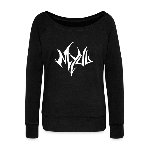 Myuu Logo Sweater I ♀ - Women's Boat Neck Long Sleeve Top