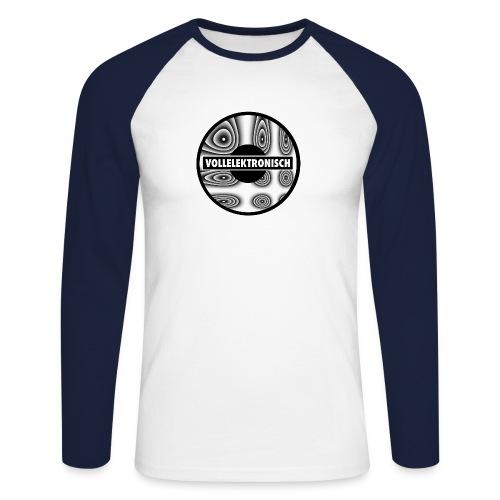 Round llusions - Männer Baseballshirt langarm