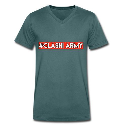#Clashi Army - T-Shirt V-Ausschnitt - Männer Bio-T-Shirt mit V-Ausschnitt von Stanley & Stella