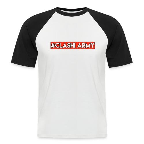 #Clashi Army - T-Shirt (Schwarz-Weiß) - Männer Baseball-T-Shirt