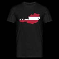 Österreich Flagge Silhouette T-Shirt