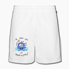 Short Football Homme Licorne Bleu, J'ai aquaponey