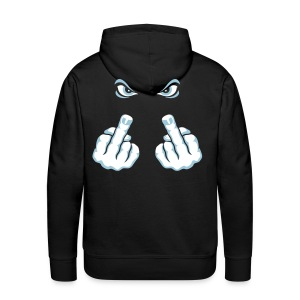 The Finger (Fuck Off / Fuck You) Hoodies & Sweatshirts - Men's Premium Hoodie