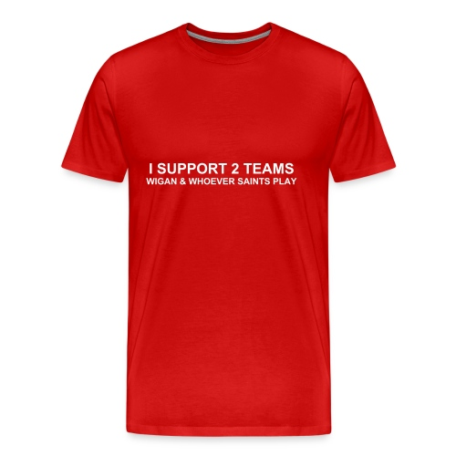 Wigan - 2 Teams - Men's Premium T-Shirt