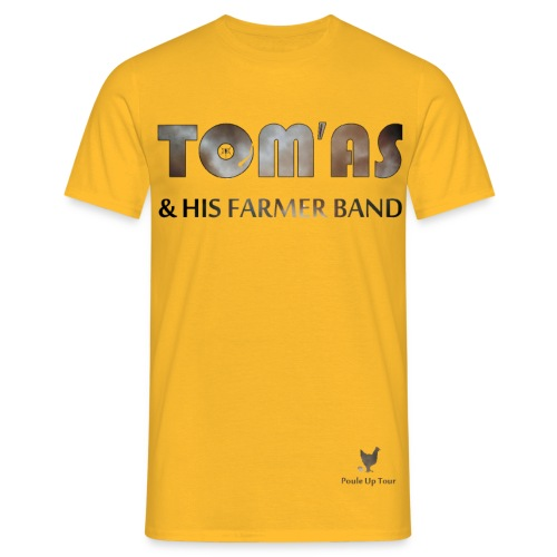 T shirt homme - Tom'As & His Farmer Band / Maillot jaune  - T-shirt Homme