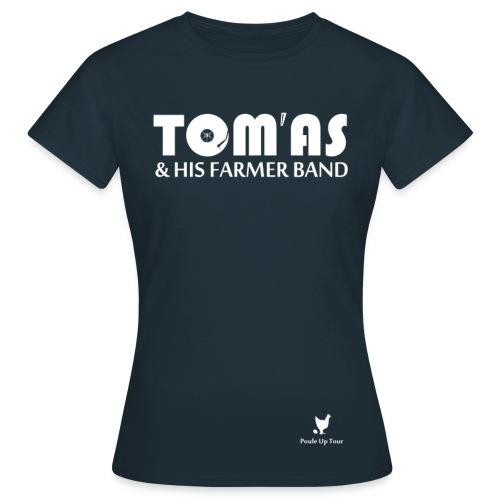 T shirt femme - Tom'As & His Farmer Band  / bleu et + - T-shirt Femme