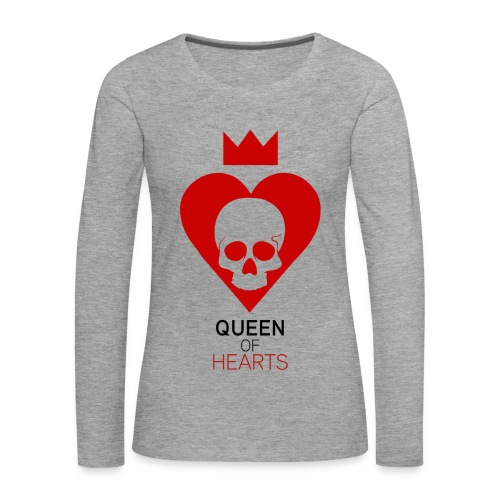 QUEEN OF HEARTS - T-shirt manches longues Premium Femme