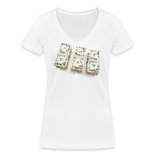 Women Ca$h Shirt - Frauen Bio-T-Shirt mit V-Ausschnitt von Stanley & Stella