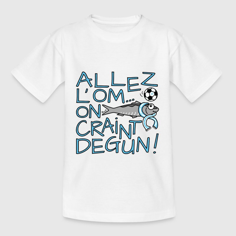 Tee shirt Ado B&C, Allez l'OM, On Craint Degun - T-shirt Ado