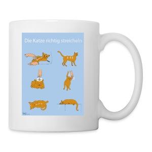 Die Katze richtig streicheln. - Tasse