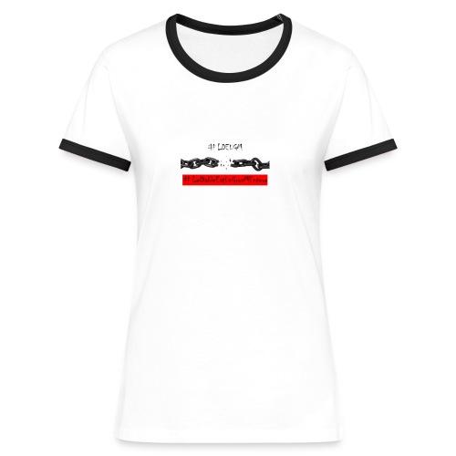 #LDEUGM T-shirt femme - T-shirt contrasté Femme