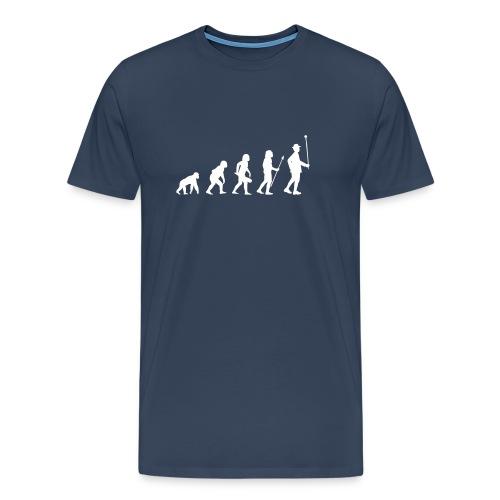 Evolution Stabführer Shirt // weißer Print - Männer Premium T-Shirt