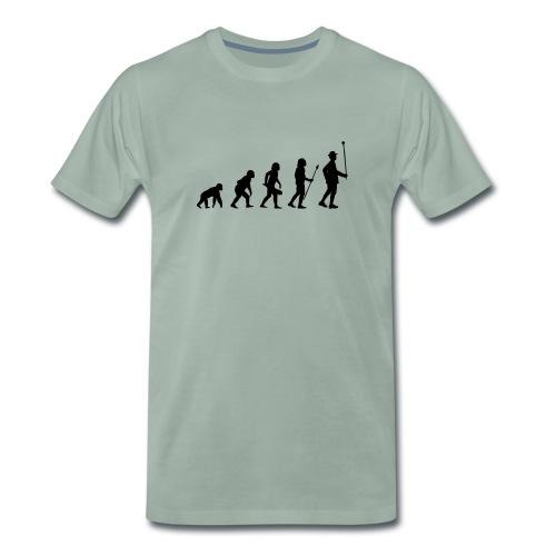 Evolution Stabführer Shirt // schwarzer Print - Männer Premium T-Shirt