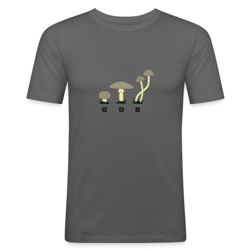Shrooms Shirt Men - Männer Slim Fit T-Shirt
