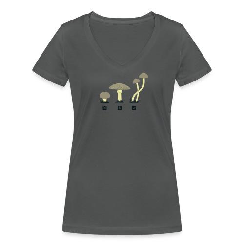 Shrooms Shirt Women - Frauen Bio-T-Shirt mit V-Ausschnitt von Stanley & Stella