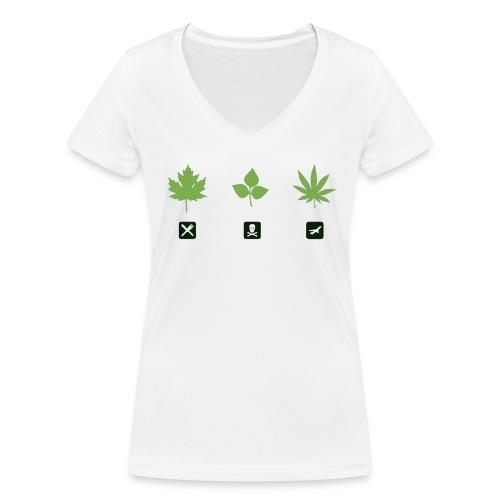 Weed Shirt Women - Frauen Bio-T-Shirt mit V-Ausschnitt von Stanley & Stella