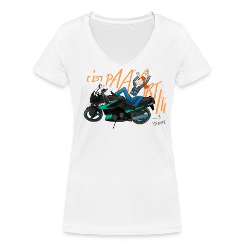 C'est parti !!! - T-shirt bio col V Stanley & Stella Femme