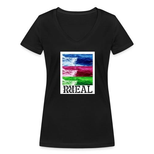 RR Real T-Shirt - Frauen Bio-T-Shirt mit V-Ausschnitt von Stanley & Stella