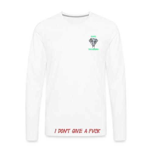 IDGAF-Sweater - Männer Premium Langarmshirt