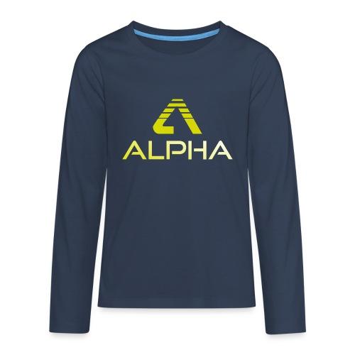 Alpha Kindershirt - Teenager Premium Langarmshirt