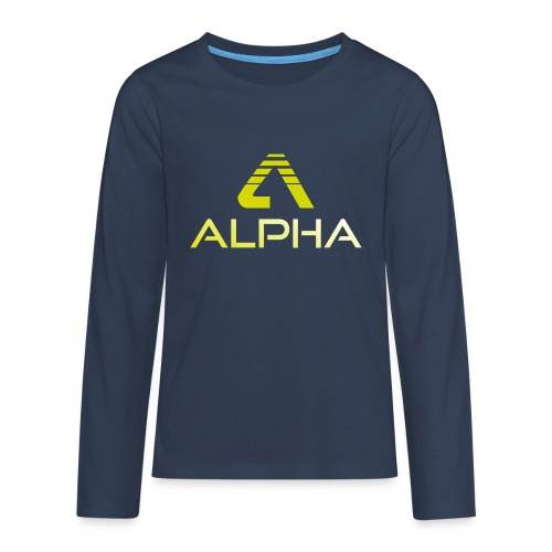 Alpha Kindershirt - Teenager Premium Langarmshirt