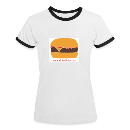 A constant reminder placed right on your gullet. Eat in front of a mirror for best results. - Women's Ringer T-Shirt