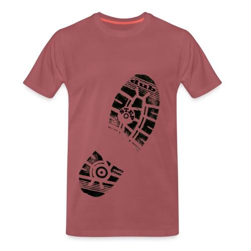 Dub Step Footprint - Men's Premium T-Shirt