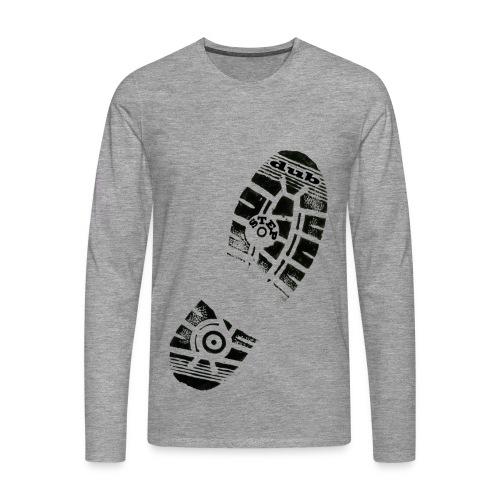 Dub Step Footprint - Men's Premium Longsleeve Shirt