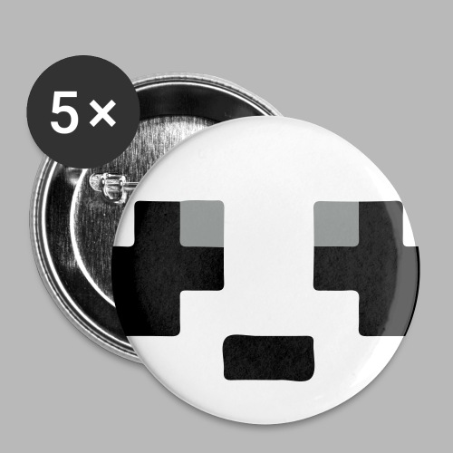 Small Panda Pins - Buttons small 1''/25 mm (5-pack)