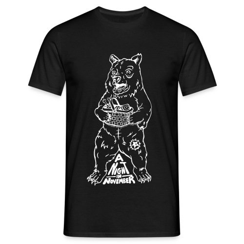 Picnic - White Bear (Mens Tee) - Men's T-Shirt