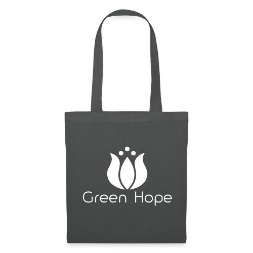 Sac Tissu - White Design - Green Hope - Tote Bag