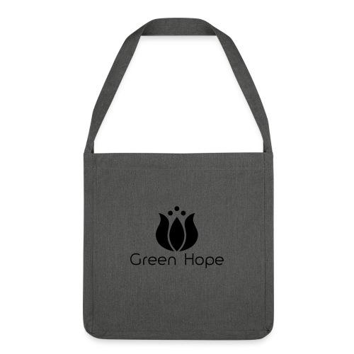 Sac Bandouillère 100% Recyclé - Black Design - Green Hope - Sac bandoulière 100 % recyclé