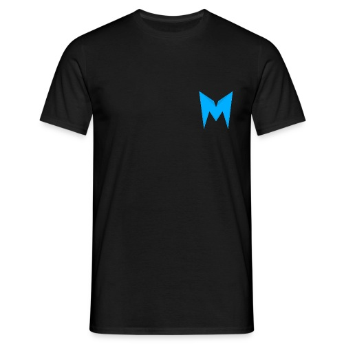 Tee-shirt Madcrow / Noir & logo bleu sur le coeur  Madcrow Dream's - T-shirt Homme
