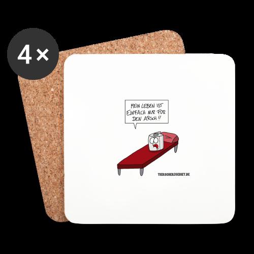 Cartoon Untersetzer Klopapier - Untersetzer (4er-Set)