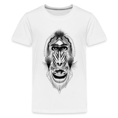 Mandrill tattoo - Teenage Premium T-Shirt