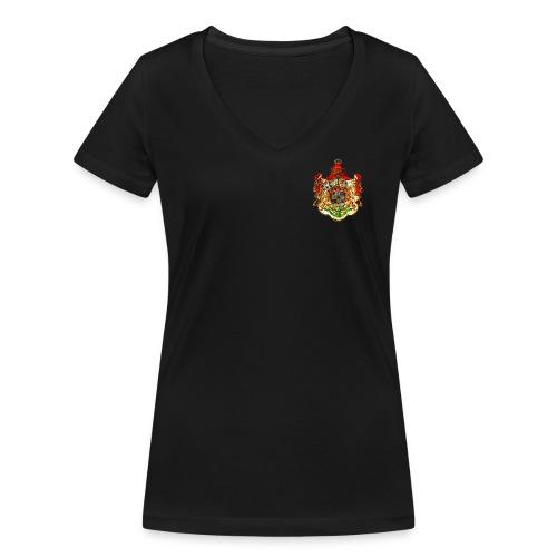 Königreich Sachsen - Frauen Bio-T-Shirt mit V-Ausschnitt von Stanley & Stella