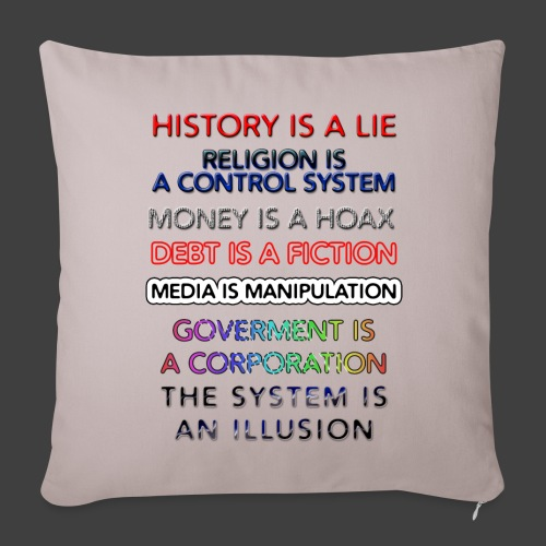 Lies - Sofa pillow cover 44 x 44 cm