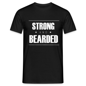 T-Shirt Strong&Bearded blanc - T-shirt Homme